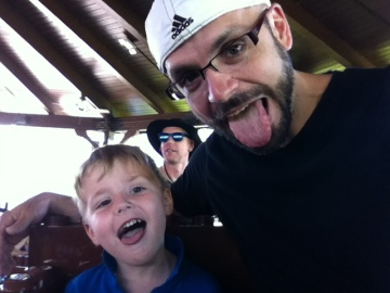 Sawyer Coaster Ride Tongue Out